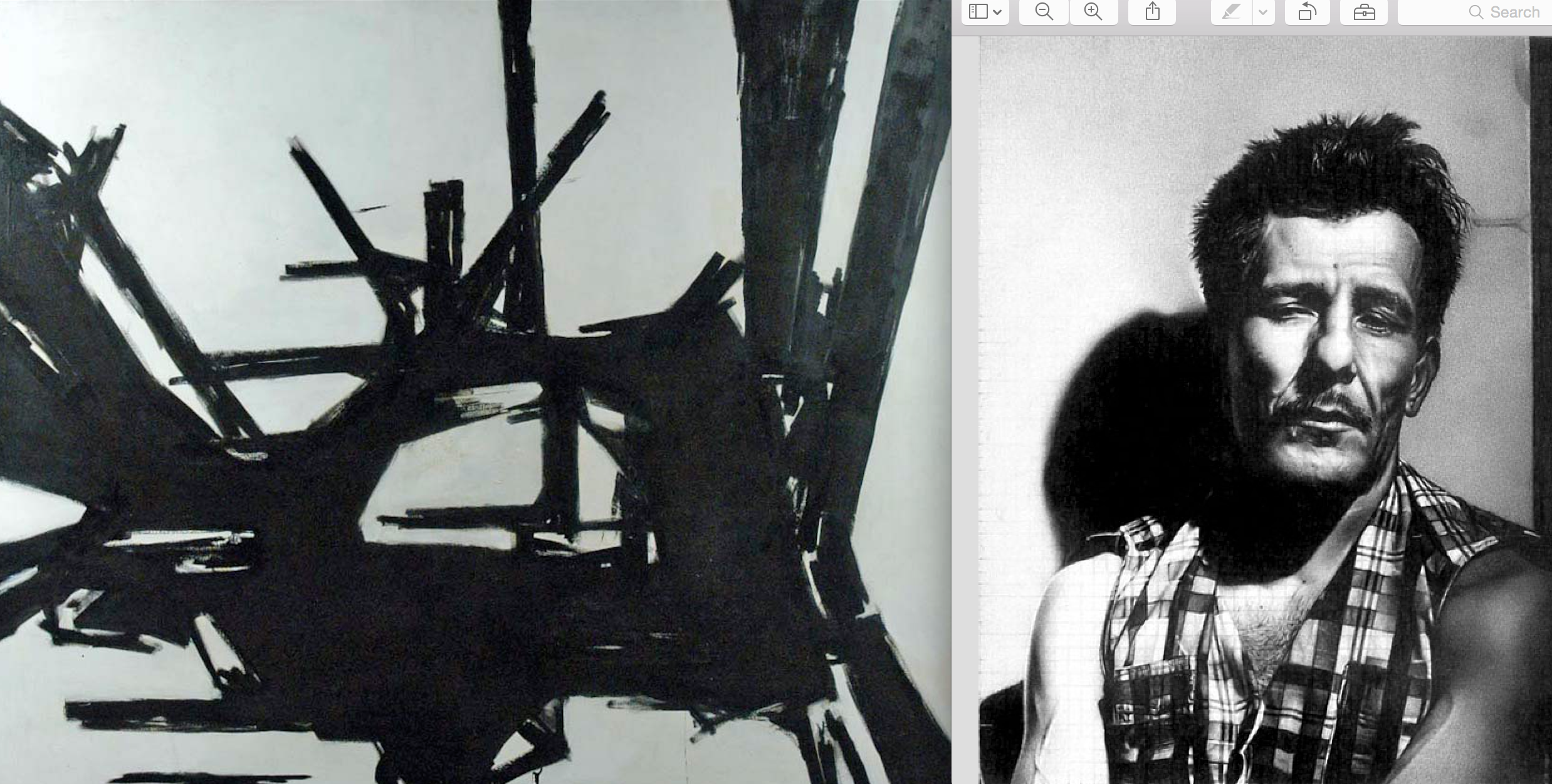 Action painter Franz Kline