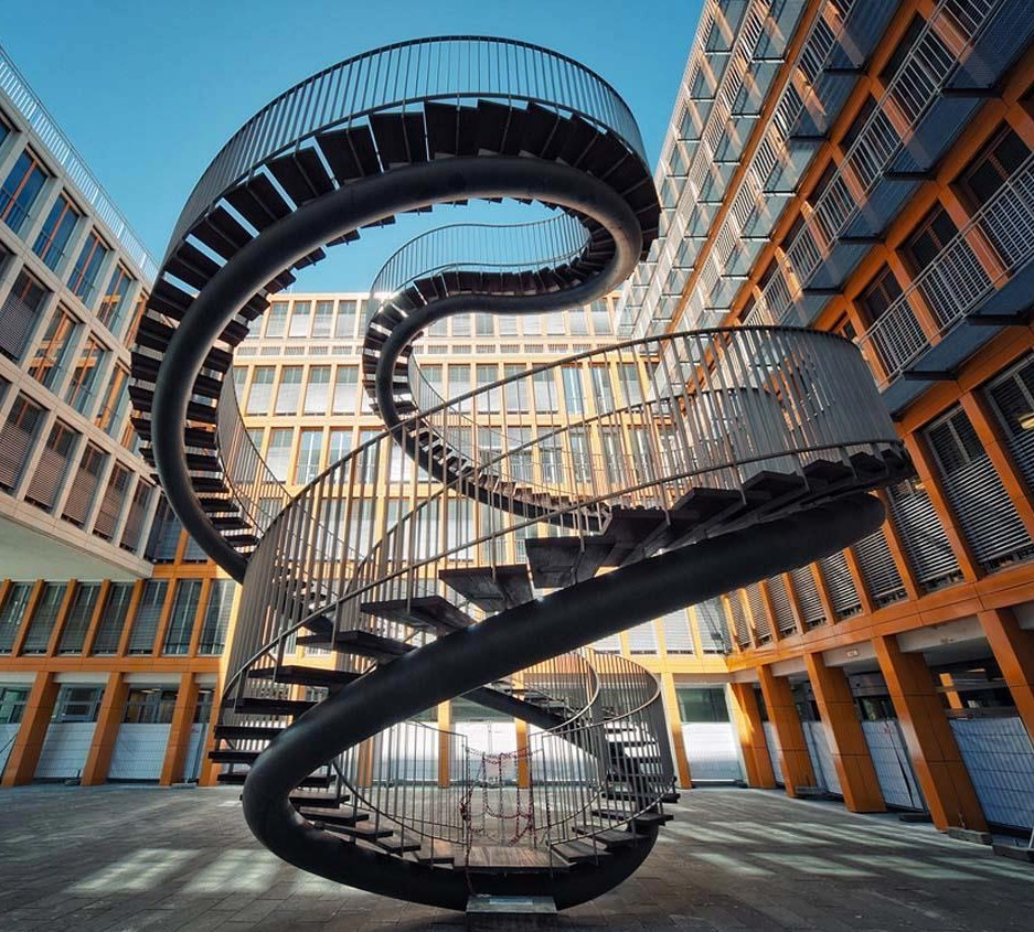 A Mobius inspired staircase by Olafur Eliasson Studio.